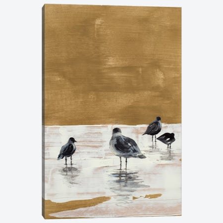 Seagulls Chillin' Canvas Print #LNL399} by Lanie Loreth Canvas Print