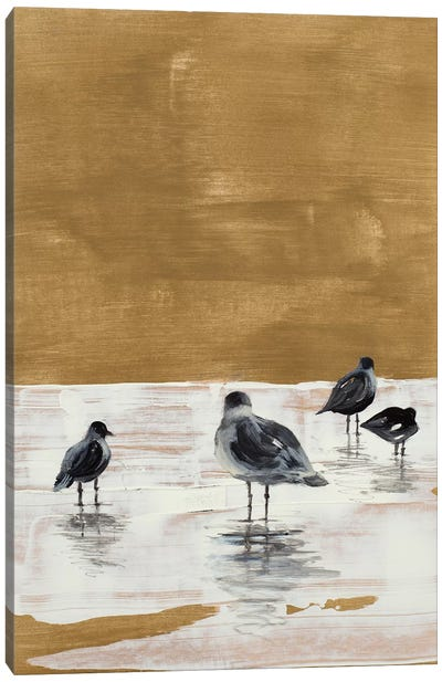 Seagulls Chillin' Canvas Art Print