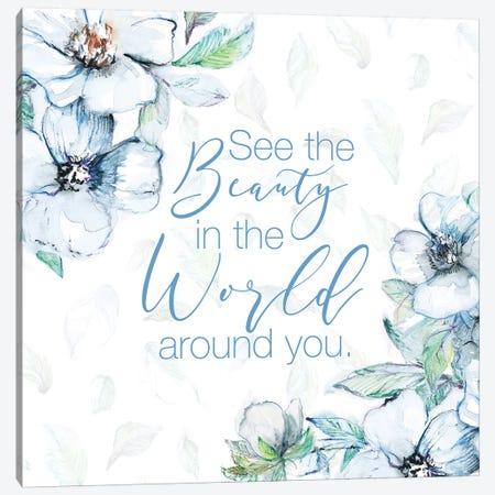 See The Beauty Canvas Print #LNL401} by Lanie Loreth Art Print
