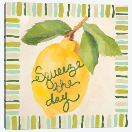 Squeeze The Day Canvas Print #LNL411} by Lanie Loreth Canvas Art