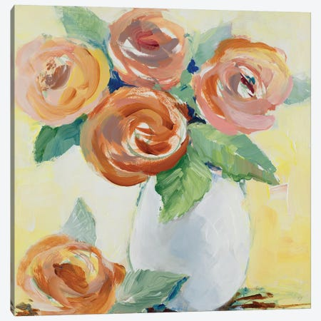 Sunny Blooms Canvas Print #LNL416} by Lanie Loreth Canvas Art Print