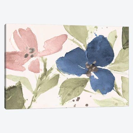 Watercolor Blooms I Canvas Print #LNL425} by Lanie Loreth Canvas Artwork