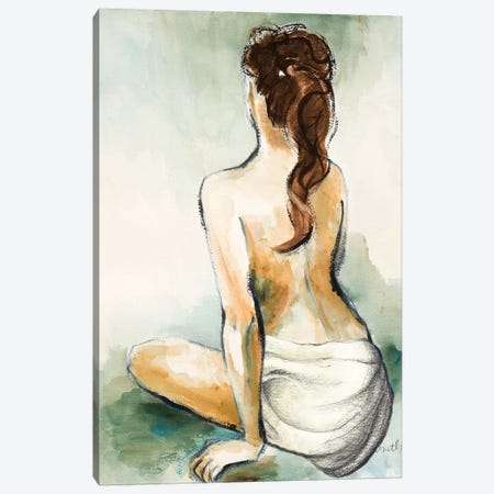 Woman Sitting II Canvas Print #LNL429} by Lanie Loreth Canvas Print