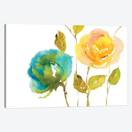 Blooming Hues Canvas Print #LNL435} by Lanie Loreth Canvas Art Print