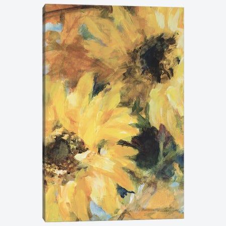 Breezy Vintage Sunflowers Canvas Print #LNL436} by Lanie Loreth Canvas Art Print