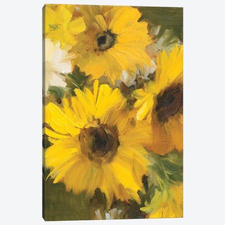Bright Yellow Sunflowers Canvas Print #LNL437} by Lanie Loreth Art Print