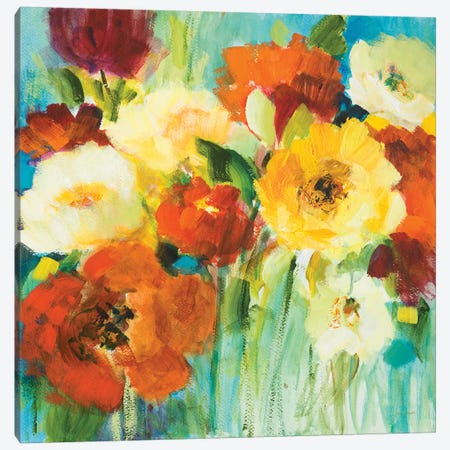 Flower Power II Canvas Print #LNL443} by Lanie Loreth Canvas Art Print