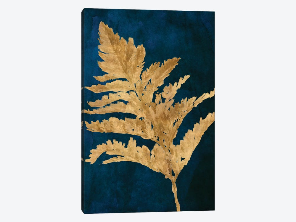 Gold Leaves on Navy I by Lanie Loreth 1-piece Canvas Art Print