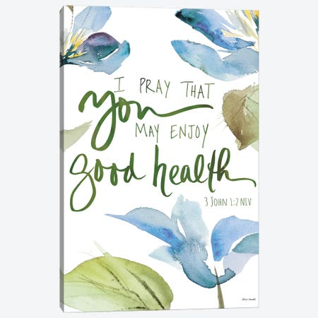 Good Health Geraniums Canvas Print #LNL450} by Lanie Loreth Canvas Wall Art