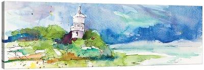 Lighthouse on Coastline Canvas Art Print