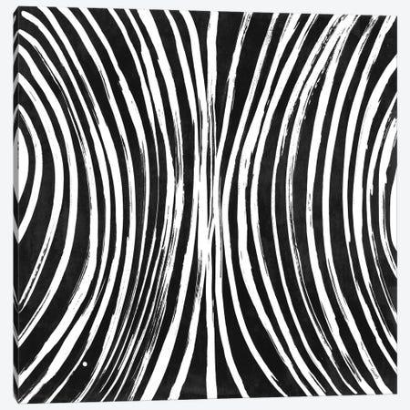 Lines Meet Curves I (Black) Canvas Print #LNL455} by Lanie Loreth Canvas Print