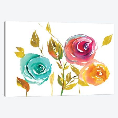 Modern Trio of Blooms I Canvas Print #LNL459} by Lanie Loreth Canvas Art