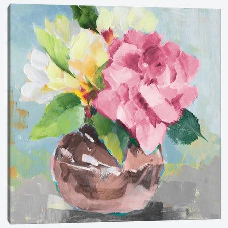 Pink Bloom I 3-Piece Canvas #LNL465} by Lanie Loreth Canvas Artwork