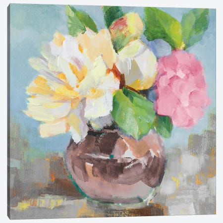 Pink Bloom II 3-Piece Canvas #LNL466} by Lanie Loreth Canvas Wall Art