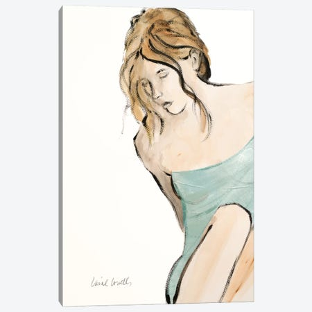 Contemplative Woman II Canvas Print #LNL46} by Lanie Loreth Canvas Wall Art