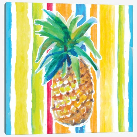 Vibrant Pineapple I Canvas Print #LNL476} by Lanie Loreth Canvas Print