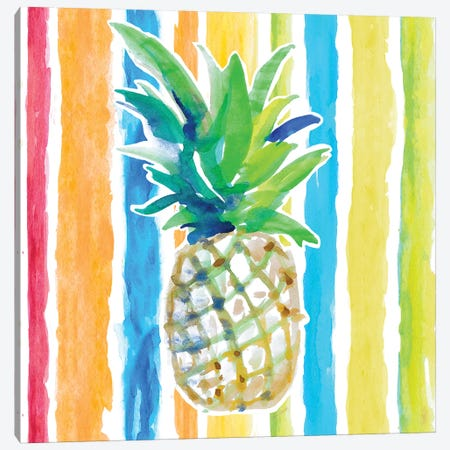 Vibrant Pineapple II Canvas Print #LNL477} by Lanie Loreth Art Print