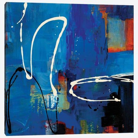 Blue Retro Canvas Print #LNL484} by Lanie Loreth Canvas Artwork