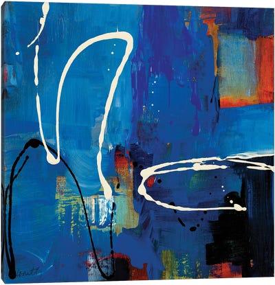 Blue Retro Canvas Art Print