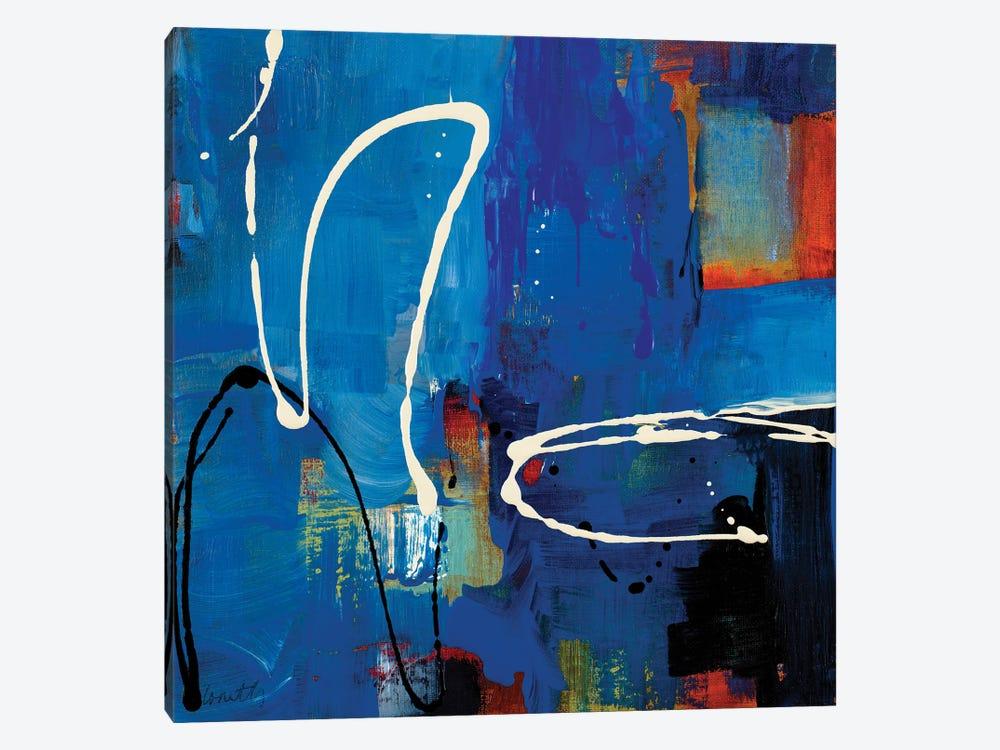 Blue Retro by Lanie Loreth 1-piece Canvas Print