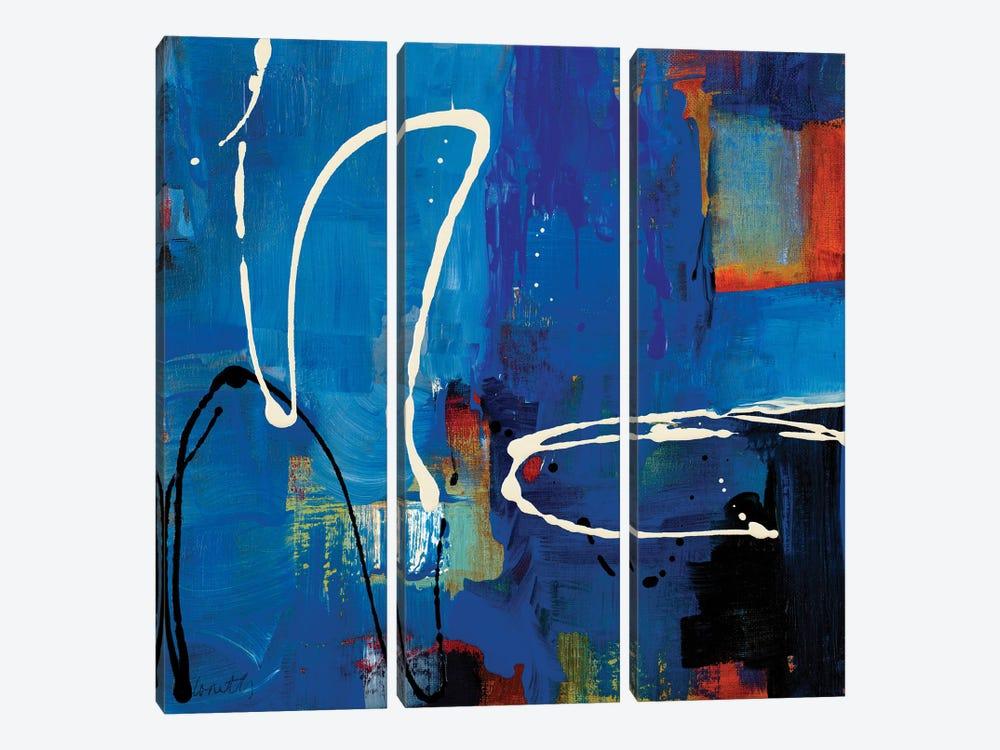 Blue Retro by Lanie Loreth 3-piece Canvas Print