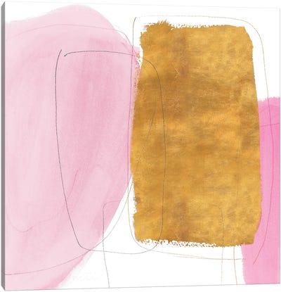 Blushing Gold I Canvas Art Print
