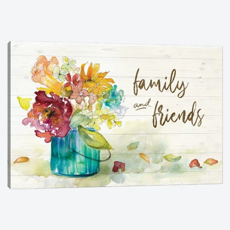 Flower Burst Family and Friends Canvas Print #LNL498} by Lanie Loreth Canvas Wall Art