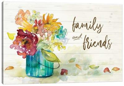 Flower Burst Family and Friends Canvas Art Print