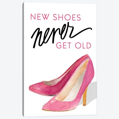 New Shoes Never Get Old Canvas Print #LNL512} by Lanie Loreth Art Print