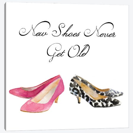 Old Shoes Never Get Old 3-Piece Canvas #LNL513} by Lanie Loreth Canvas Art Print