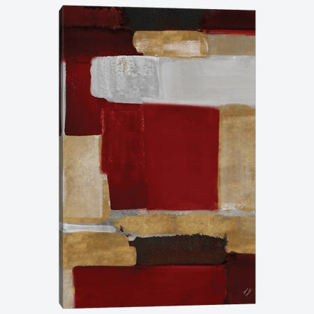 Red and Gold Light I Canvas Print #LNL516} by Lanie Loreth Canvas Artwork