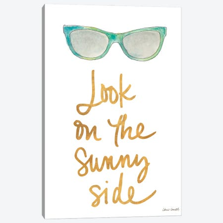 Sunny Side Shades Teal Canvas Print #LNL524} by Lanie Loreth Art Print