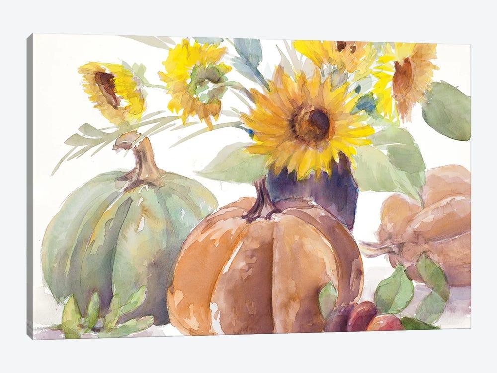 Tawny Sunflowers and Pumpkins by Lanie Loreth 1-piece Art Print