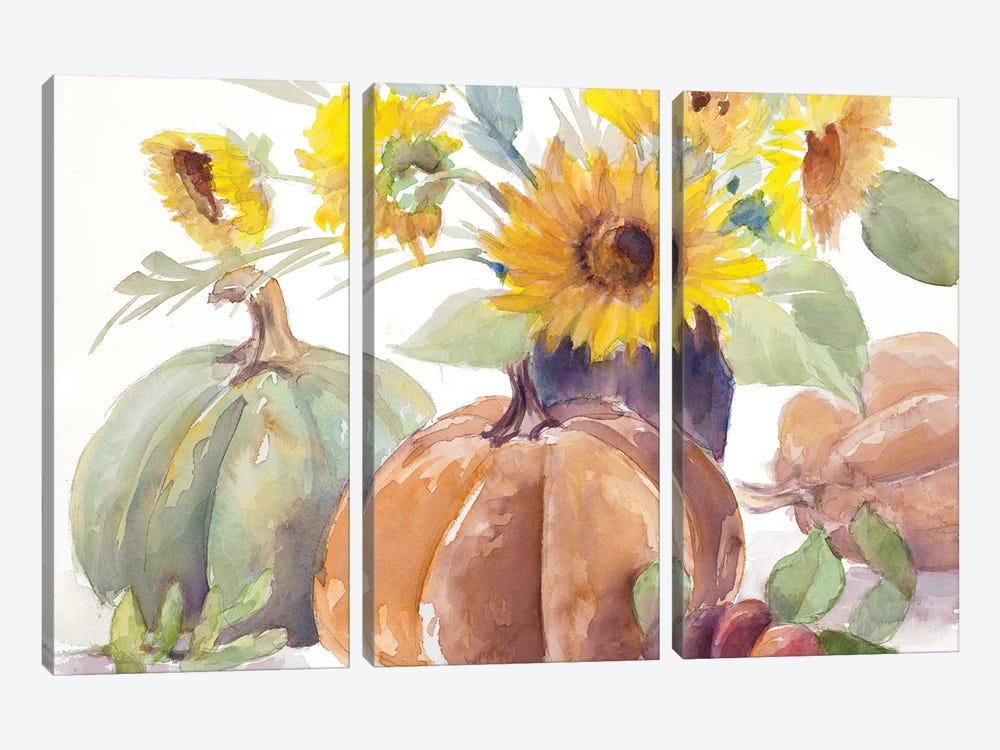 Tawny Sunflowers and Pumpkins by Lanie Loreth 3-piece Art Print