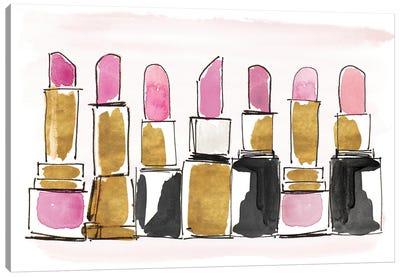 Watercolor Lipsticks Canvas Art Print