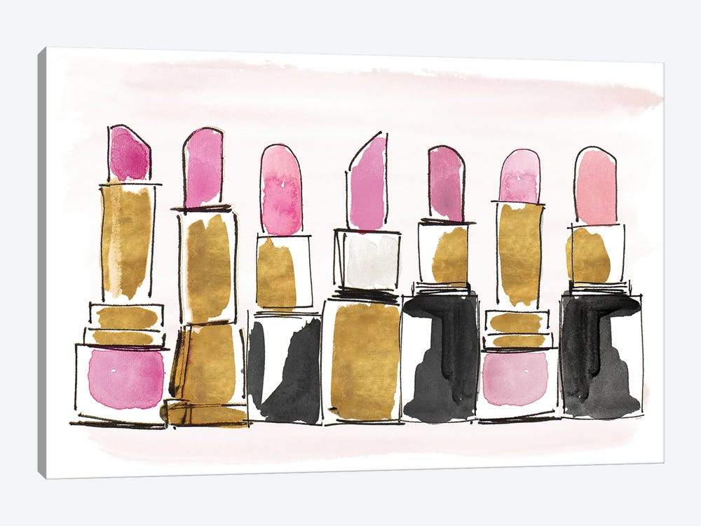 Watercolor Lipsticks by Lanie Loreth 1-piece Art Print