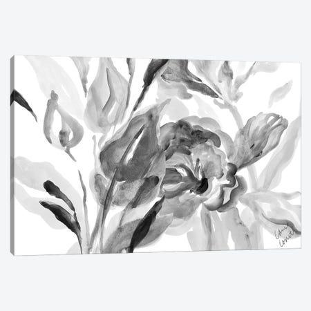 Dark Florals Canvas Print #LNL52} by Lanie Loreth Canvas Art