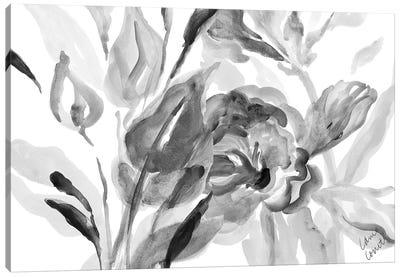 Dark Florals Canvas Art Print