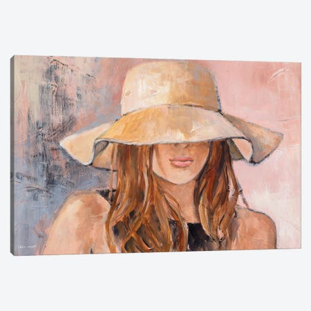 Woman in Hat Canvas Print #LNL534} by Lanie Loreth Canvas Art
