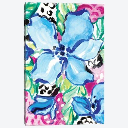 Blooming Blues Canvas Print #LNL536} by Lanie Loreth Canvas Art