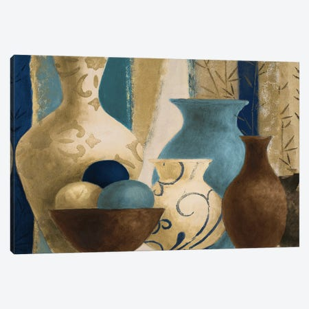 Blue Barcelona Vessels Canvas Print #LNL537} by Lanie Loreth Canvas Wall Art