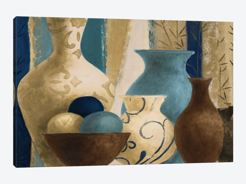 Blue Barcelona Vessels by Lanie Loreth 1-piece Canvas Art