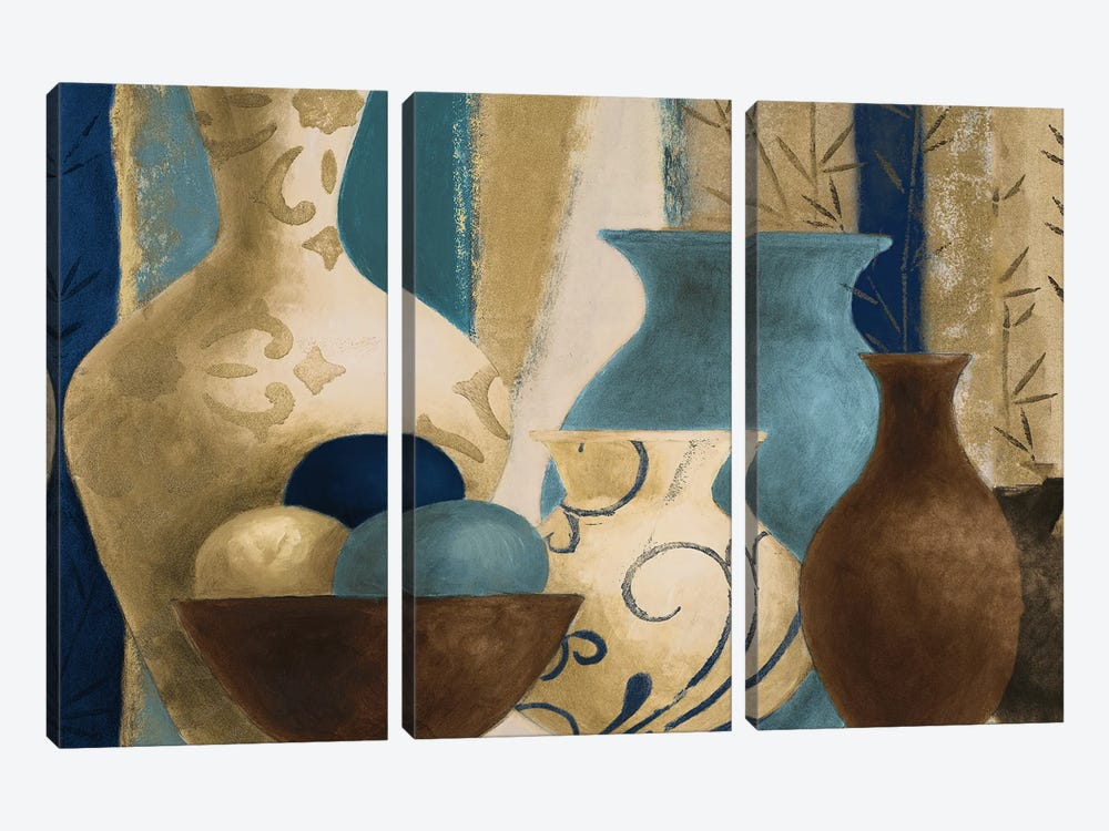 Blue Barcelona Vessels by Lanie Loreth 3-piece Canvas Artwork
