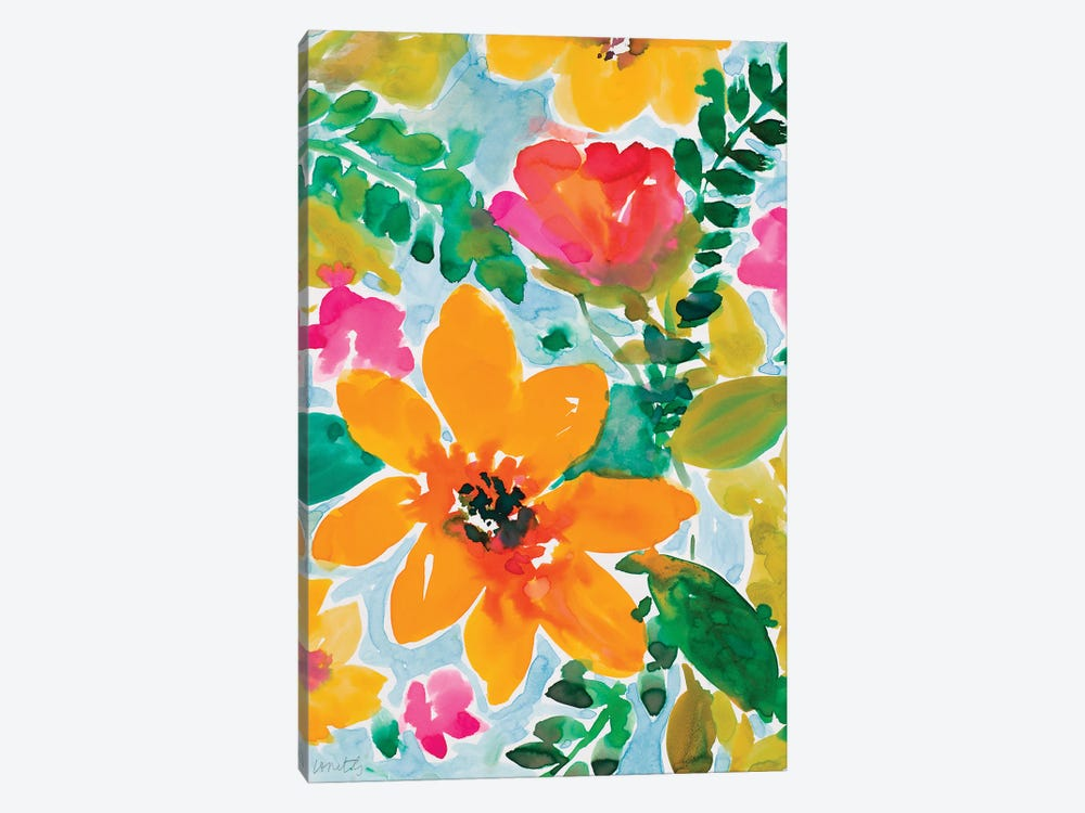 Bright and Cheery Blooms by Lanie Loreth 1-piece Canvas Wall Art