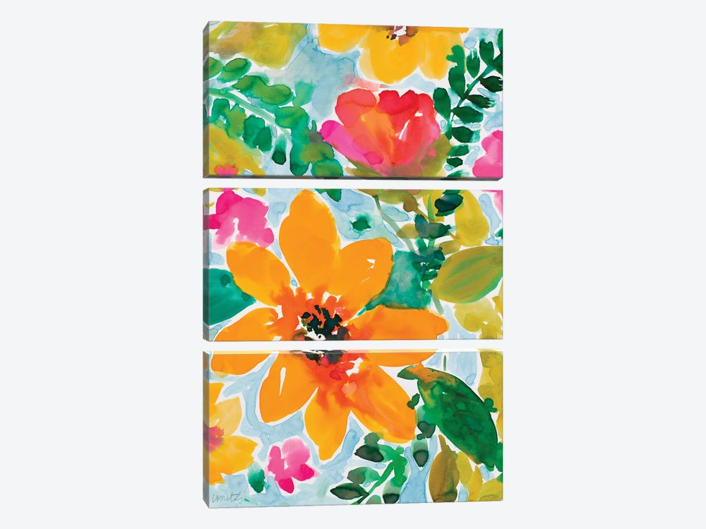 Bright and Cheery Blooms by Lanie Loreth 3-piece Canvas Art