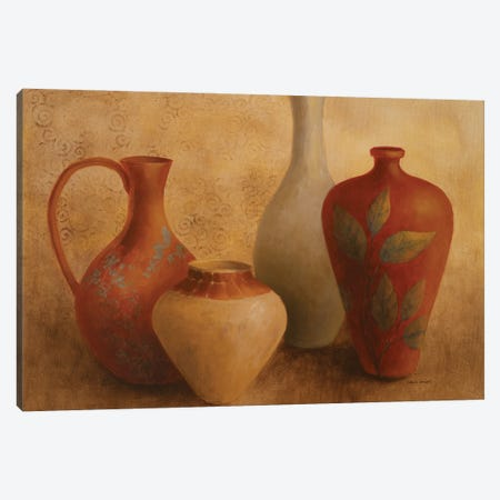 Decorative Vessel Still Life II Canvas Print #LNL542} by Lanie Loreth Canvas Wall Art