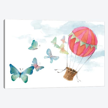 Fluttering Hot Balloon Ride Canvas Print #LNL544} by Lanie Loreth Art Print
