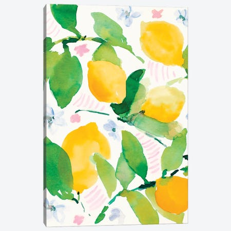 Garden Lemons Canvas Print #LNL547} by Lanie Loreth Canvas Print