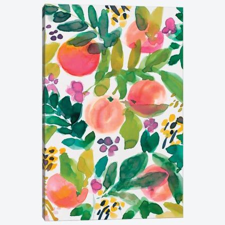 Garden Peaches Canvas Print #LNL548} by Lanie Loreth Canvas Artwork