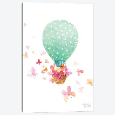 Hot Air Balloon with Butterflies Canvas Print #LNL549} by Lanie Loreth Canvas Art